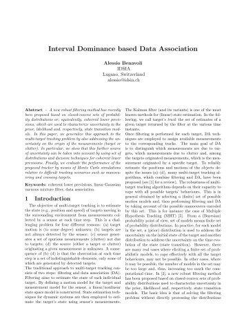 Interval Dominance based Data Association - ISIF
