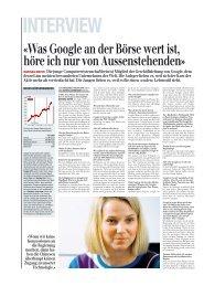 «Was Google an der Börse wert ist, höre ich nur von ...