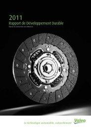 Rapport de développement durable 2011 (PDF 602.21kB) - Valeo