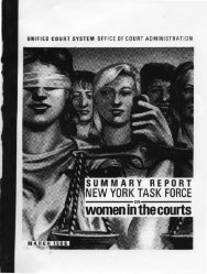 women in the courts - New York State Unified Court System