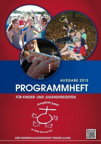 Programm für Kinder- und Jugendfreizeiten 2013 - Kirchenkreis ...