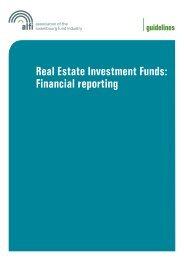 Real Estate Investment Funds: Financial reporting - Alfi
