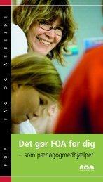 Det gør FOA for dig - som pædagogmedhjælper