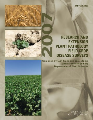research and extension plant pathology field crop disease surveys