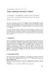Nuclear Quadrupole Interaction in Hafnon - Sociedade Brasileira de ...
