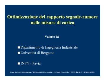 Ottimizzazione del rapporto segnale-rumore - Pavia Fisica Home ...