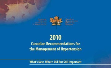 Canadian Recommendations for the Management of Hypertension