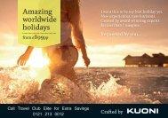 Amazing worldwide holidays - Travel Club Elite