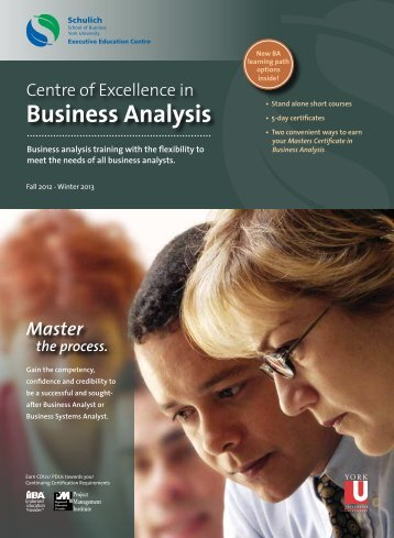 Business Analysis - Schulich Executive Education Centre - York ...