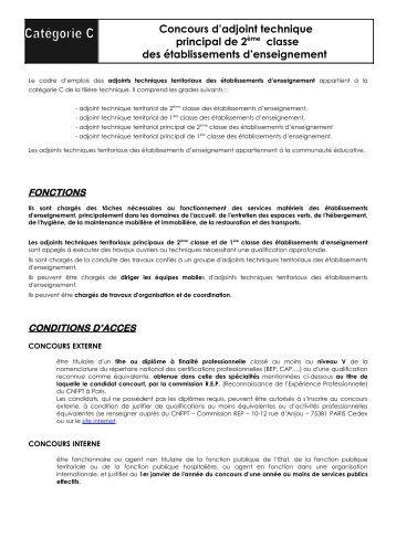 L 39 examen professionnel d 39 adjoint technique de 1 re classe - Grille indiciaire adjoint principal ere classe ...