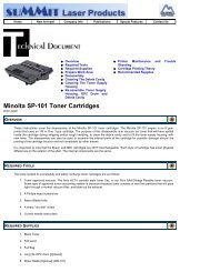 Minolta SP-101 Toner Cartridges - Uninet Imaging