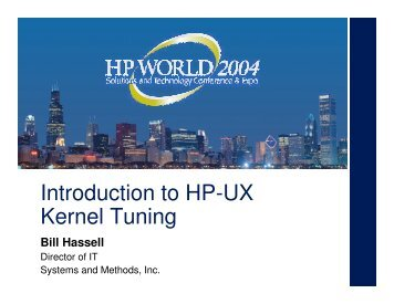 Introduction to HP-UX Kernel Tuning - OpenMPE