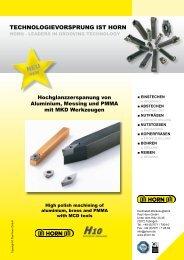 hochglanzzerspanung - Hartmetall-Werkzeugfabrik Paul Horn GmbH