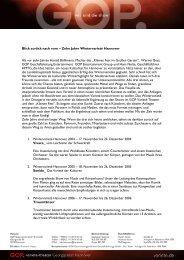 Blick zurück nach vorn – Zehn Jahre Wintervarieté Hannover Als vor ...