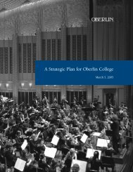 A Strategic Plan for Oberlin College