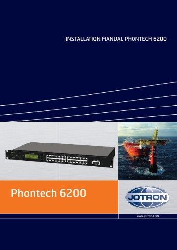 Installation Manual Phontech 6200.pdf - Jotron