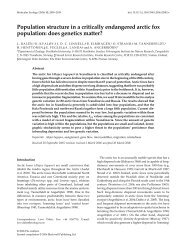 Population structure in a critically endangered arctic fox population ...