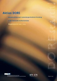 Tätigkeitsbericht DORE 2000-2003 (PDF, 643 KB) - Schweizerischer ...