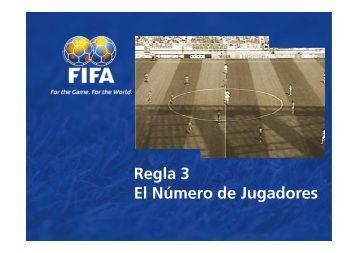 Regla 3 El Número de Jugadores - FIFA.com