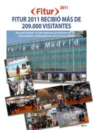 FITUR 2011 RECIBIÓ MÁS DE 209.000 VISITANTES - TAT Revista