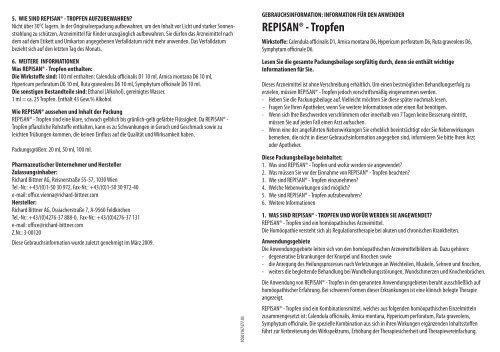 REPISAN® - Tropfen - Richard Bittner AG