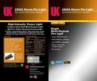 2AAA Xenon Pen Light 2AAA Xenon Pen Light - Underwater Kinetics