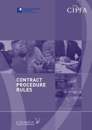 CONTRACT PROCEDURE RULES - SPS Consultancy