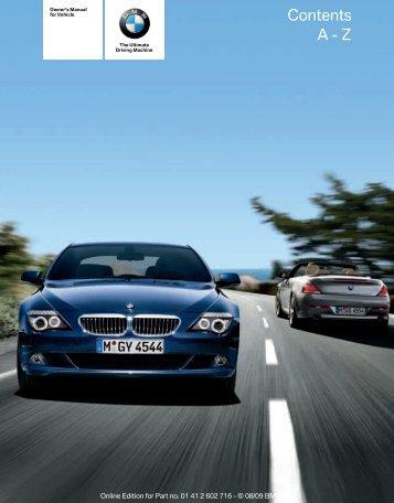 2010 6 Series Owner's Manual - Irvine BMW