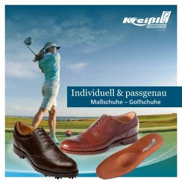 Flyer Maß-und Golfschuhe - Kreißl