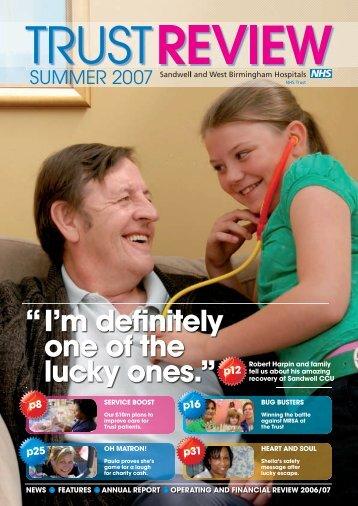Trust Review 2007 - Sandwell & West Birmingham Hospitals