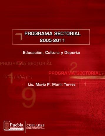 Programa Sectorial 2005-2011 de Educación, Cultura y Deporte
