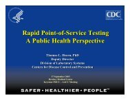 Rapid Point-of-Service Testing - Centers for Disease Control and ...