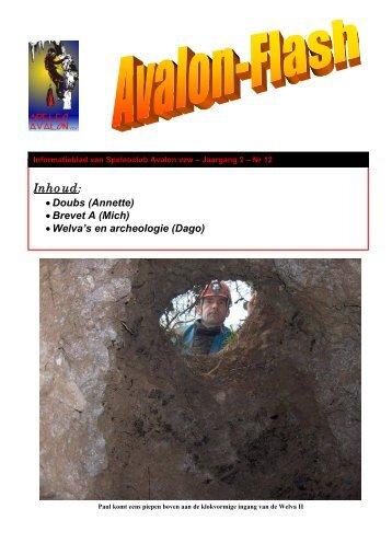 Inhoud: - Speleoclub Avalon