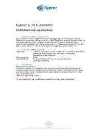 Gyproc G 66 Gipsmørtel