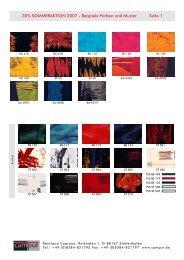 30% SOMMERAKTION 2007 - Beispiele Farben und Muster Seite 1