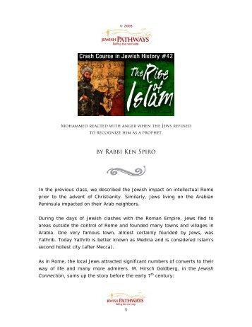 The Rise of Islam - Jewish Pathways