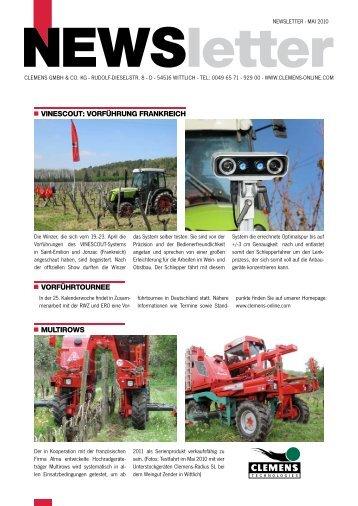 Newsletter Juni 2010 - Clemens Gmbh & Co. KG
