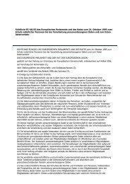 Richtlinie 95-46-EG - deutsch - E-Commerce- und Webshoprecht