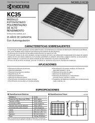 MODULO FOTOVOLTAICO POLICRISTALINO DE ... - KYOCERA Solar