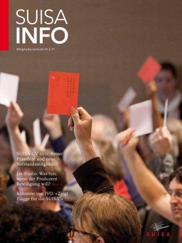 SUISA-GV 2011: Neuer Präsident und neue Vorstandsmitglieder ...