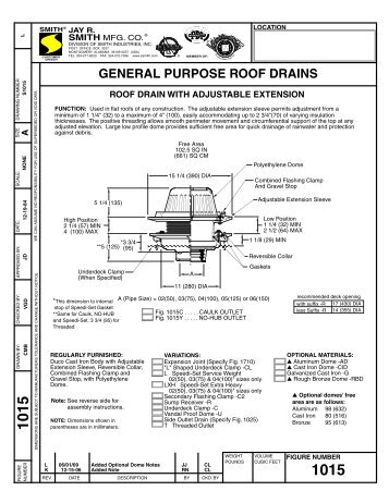 Submittal 1015 Roof Drain   Jay R. Smith MFG Co.