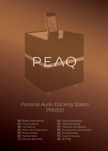 Personal Audio Docking Station PPA300 - PEAQ