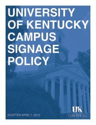 Campus Signage Policy - University of Kentucky