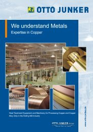 Expertise in Copper - Otto Junker GmbH