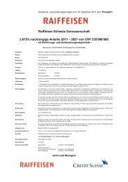 2021 von CHF 535'000'000 - Raiffeisen