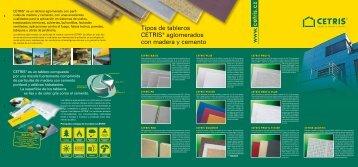 Tipos de tableros CETRIS® aglomerados con madera y cemento