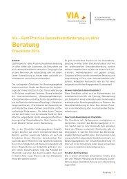 Checkliste Beratung - Gesundheitsförderung Schweiz