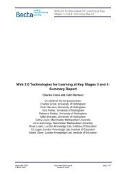 Web 2.0 Technologies for Learning at Key Stages 3 and 4 - Digital ...