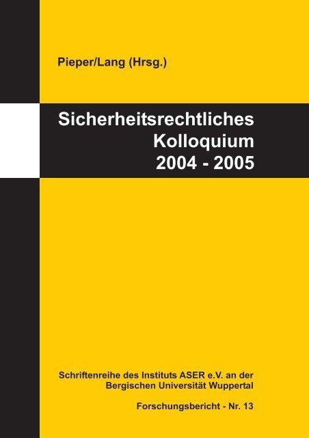Download (PDF-Datei 5,0 MB) - und Qualitätsrecht - Bergische ...