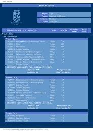 Planos de Estudio - Universidade de Vigo